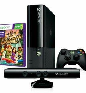 Xbox360E 250GB+Kinect+50 игр!