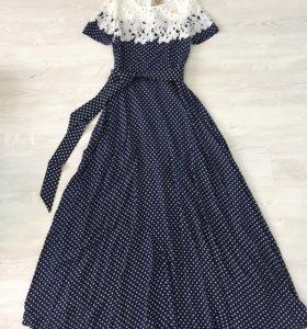 Красивые платья в пол, с кружевом