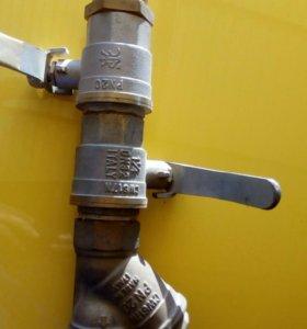 Краны водяные и фильтр 1,25