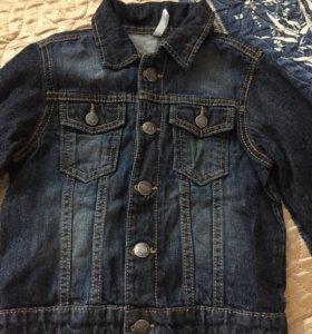 Джинсовая куртка детская