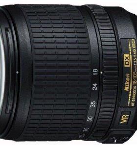 Объектив Nikkor 18-105mm;