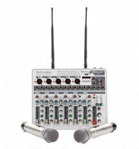 Микшер с двумя радомикрофонами Promxm V.7W