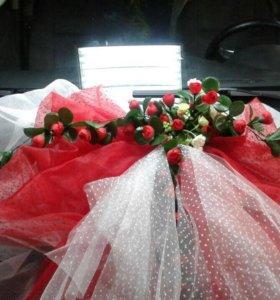 Свадебные шляпы. Бант на машину