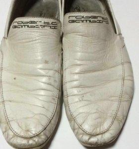 Мужские кожанные туфли roberto gambini