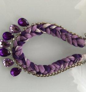 Ожерелье фиолетовое