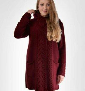 Пальто вязаное р.46