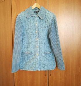 Куртка джинсовая стеганная