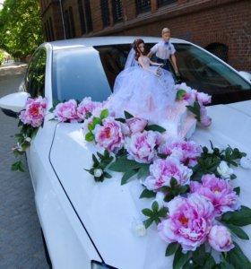 Украшение на свадебное авто