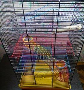 Клетка для грызунов (хомяков, мышей, песчанок)