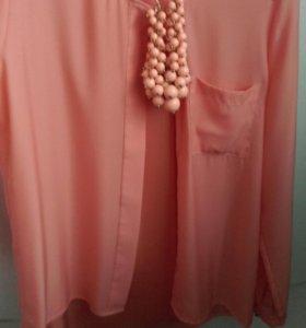 Блузка рубашка 44 размер
