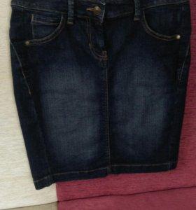 Юбка джинсовая, футляр
