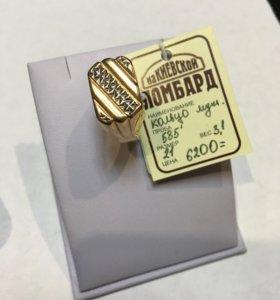 Золотое мужское кольцо 585' 21р