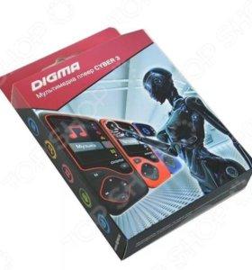 MP3 плеер digma cyber 3в1 новый (чёрно-красный)