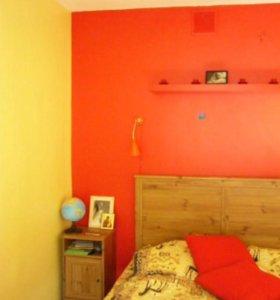 Двуспальная кровать Икеа с матрасом