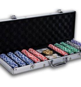 Покерный набор Premium 500 фишек по 14гр с ном