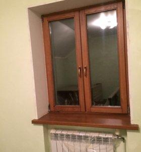 Дубовые окна ( стеклопакеты)