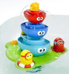 """Игрушка для купания малышнй """"Весёлая пирамидка"""""""