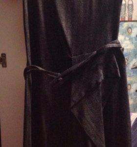 Шерстяное женское платье