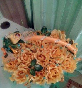 Сладкая корзиночка роз.