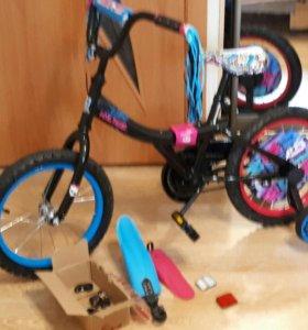 Велосипед для девочки Монстр Хай
