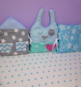 Бортики в детскую кроватку