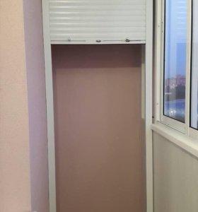 Рольставни для балкона сантехнические и обычные