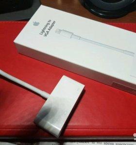 Переходник apple Lightning to VGA Adapter, 0.1 m