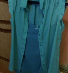 Юбка карандаш и шелковая блузка