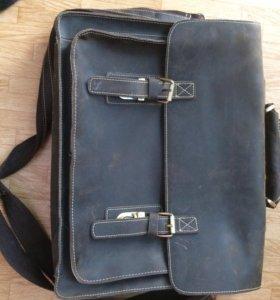 Кожаный портфель/сумка для ноутбука