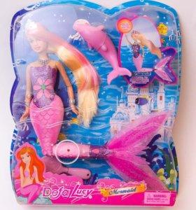 Кукла русалка светящийся хвост