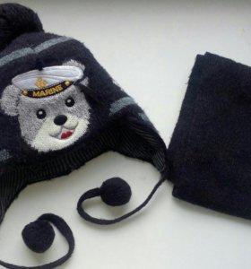 Зимняя шапка и шарфик
