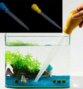 Сифон для чистки грунта в небольших аквариумах