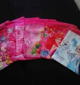 Рюкзачки-сумочки с любимыми героями мультфильмов