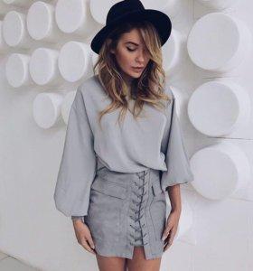 Дизайнерская юбка из замши 🙀❤️