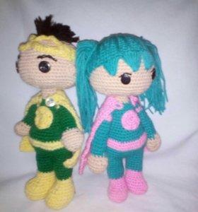 """Куклы вязаные -"""" супердетки"""""""