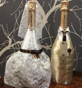 Оформлю шампанское к торжеству