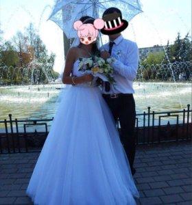 Свадебное платье 5500руб