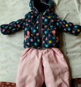 Комплект куртка и штанишки комбенизоном