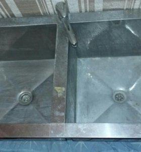 Ванна моечная двухсекционная