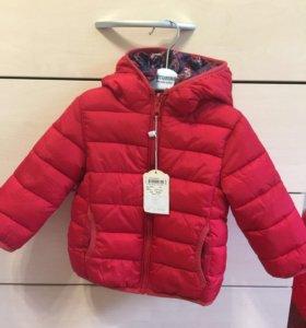 Новая куртка Koton 6-9 мес (большемерка)