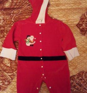 Детский новогодний комбинезон 62-68 размер