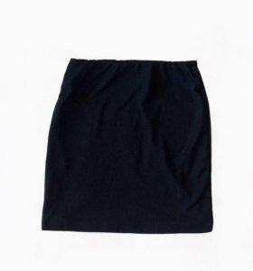 Юбка темно-синяя с блёстками и подкладкой