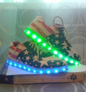 светяшиеся кросовки led