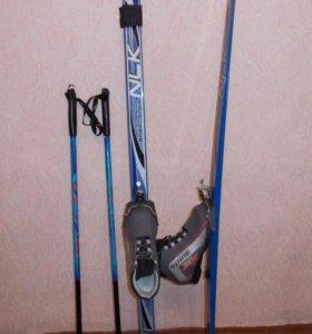 Лыжи NLK пластик комплект 35 р-р.