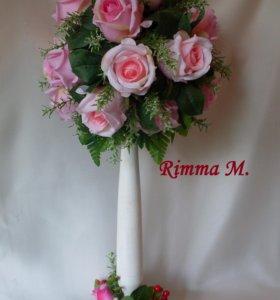 Топиарий -дерево с розами