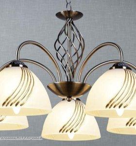Подвесная люстра на 5 ламп от производителя