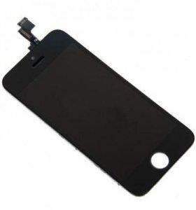 """Дисплей для """"iPhone"""" 5S черный , белый"""