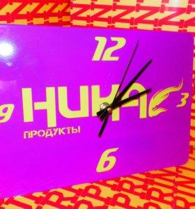 Часы с вашим фото или логотипом