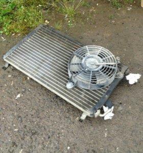 Радиатор кондиционера с вентилятором