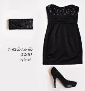 Платье, туфли, клатч